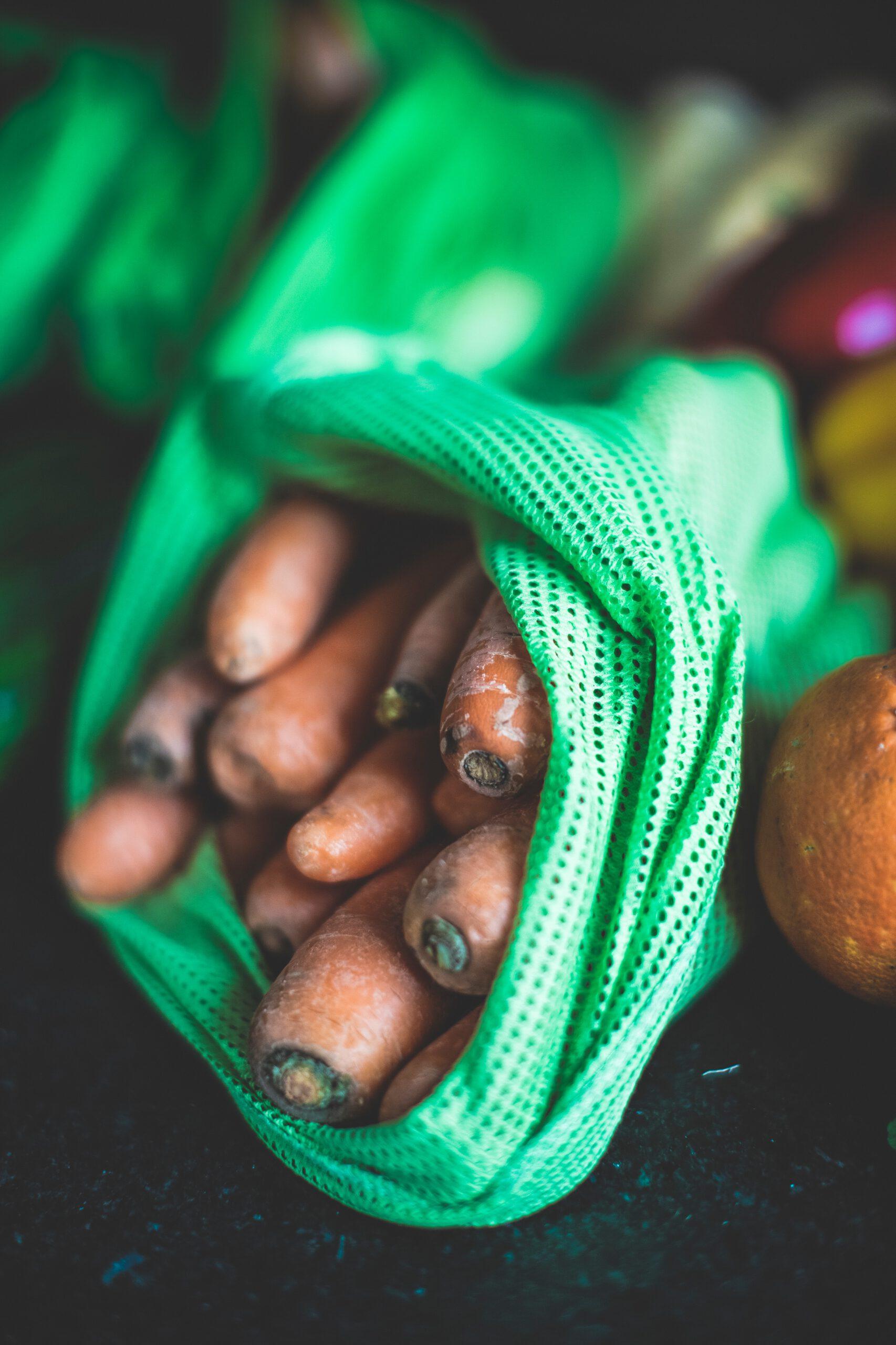 Karotten im Ökosack